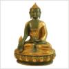 Medizinbuddha Ashtamangala 31cm mintgrün Vorderansicht