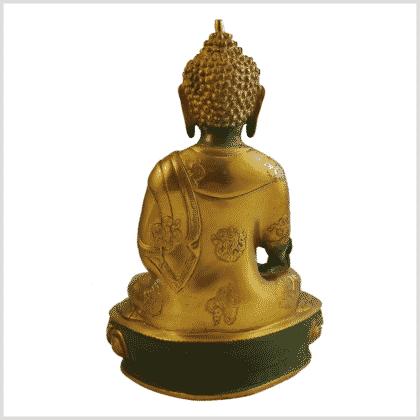 Medizinbuddha Ashtamangala 31cm mintgrün hinten
