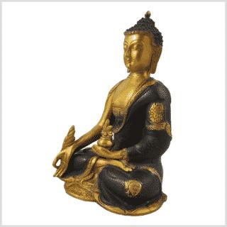 Medizinbuddha Ashtamangala 2,8kg braungold Seite links