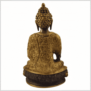 Medizinbuddha 33cm kaffeebraun Rücken
