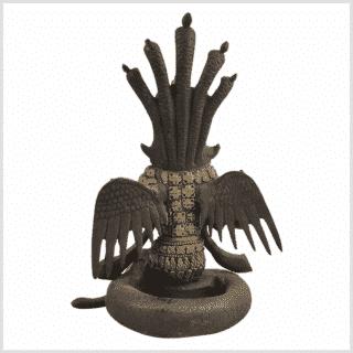 Nag Kanya Inlayarbeit 20cm Schwarzgold Hinten