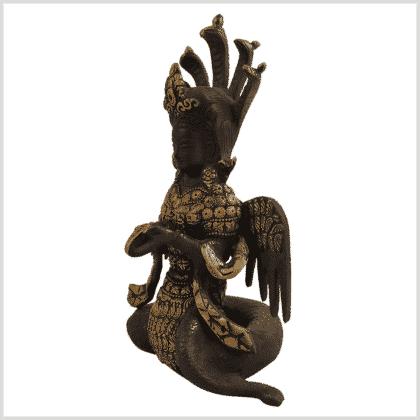 Nag Kanya Inlayarbeit 20cm Schwarzgold Seite links