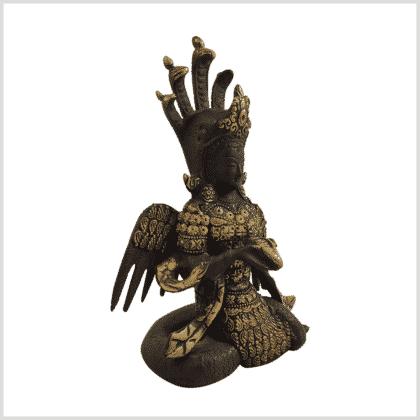 Nag Kanya Inlayarbeit 20cm Schwarzgold Seite rechts