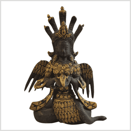 Nag Kanya Inlayarbeit 20cm Schwarzgold Vorne