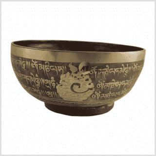 Beckenklangschale Aum Yantra 1791g Seitenansicht