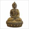 Erleuchtungsbuddha Inlayarbeit 31cm 4,6kg Messing Vorne