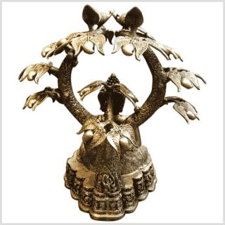 Großer Buddha untem Bodhibaum 75cm Rücken