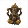 Ganesha kaffeebraun gold sitzend 21cm Vorne