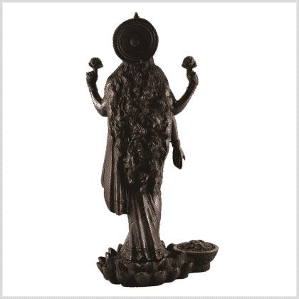 Lakshmi stehend rotgold hinten