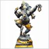 Tanzender Ganesha 100cm graugold