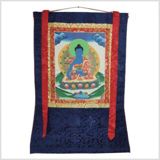 Medizinbuddha Thangka grün Vollansicht