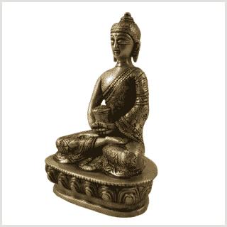 Erleuchtungsbuddha Messing 14cm Seite links