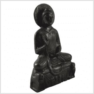 Amoghasiddhi Buddha schwarz 19cm 1kg Seite rechts