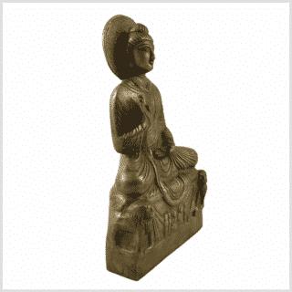 Amoghasiddhi Buddha Messing 21cm Seite rechts