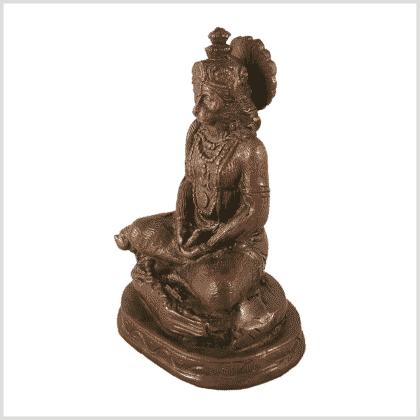 Hanuman klein Messing braungrün Seite links