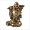 Glücksbuddha Messing 800g Vorderansicht