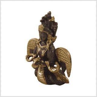 Nag Kanya 7cm Messing Kupfer Seite links