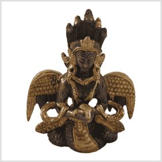 Nag Kanya 7cm Messing Kupfer Vorne