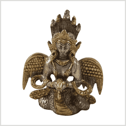 Nag Kanya Messing Silber 7cm Vorderansicht