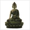 Bhumisparsha Mudra Buddha grünantik Vorderansicht