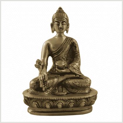 ME-New Buddha Medizinbuddha 14cm Messing Vorderansicht