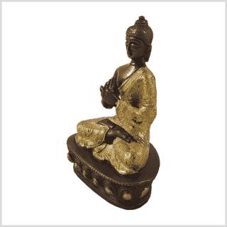 Dharmachakrabuddha Messing Kupfer Seite links