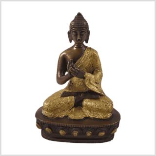 Dharmachakrabuddha Messing Kupfer Vorderansicht