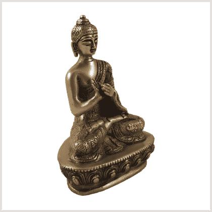 Dharmachakrabuddha Messing Seite rechts