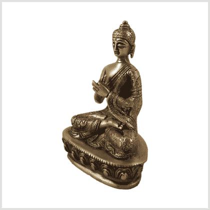 Dharmachakrabuddha Messing Seite links