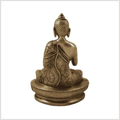 Amoghasiddhi Segnender Buddha Messing 14cm Rücken