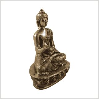 Amoghasiddhi Segnender Buddha Messing 14cm Seite rechts