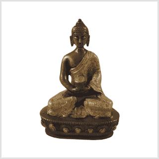 Erleuchtungsbuddha Messing Kupfer 14cm Vorne