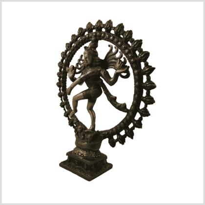 Shiva Nataraja Messing braungrüngold Seite links