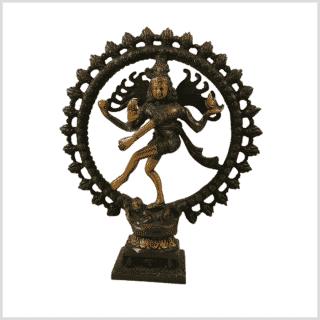 Shiva Nataraja Messing braungrüngold Vorderansicht
