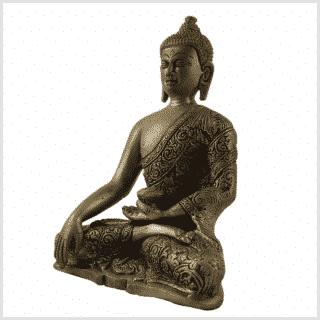 Bhumisparsha Mudra Buddha 1,74kg Seite links