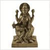 Lakshmi auf Podest Messing 18,7cm Vorne