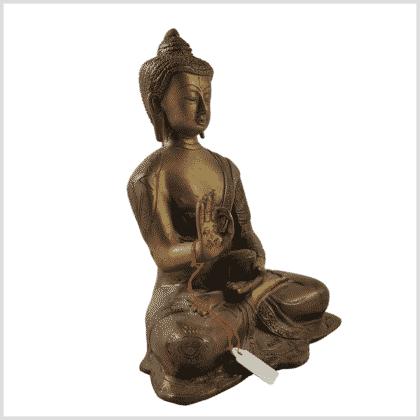 Segnender Buddha Amoghasiddhi Messing Seite rechts