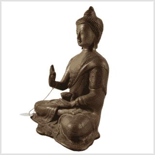 Segnender Buddha Amoghasiddhi Messing Seite links