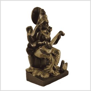 Saraswati Messing Kupfer 18,7cm Seite rechts