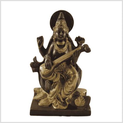 Saraswati Messing Kupfer 18,7cm Vorne