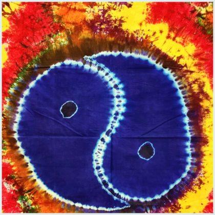 Yin & Yang Batik Wandtuch Nahansicht
