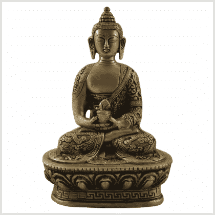 Erleuchteter Buddha 1kg Messing Vorne