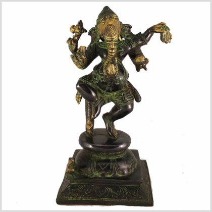 Tanzender Ganesha grüngold Vorderansicht