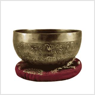 Halschakra Klangschale 463g Amithaba Buddha Seite