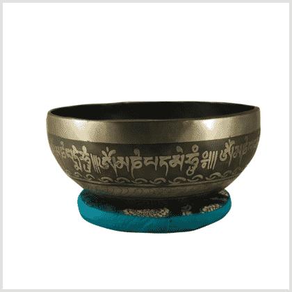 Nepal Klangschale Beckenschale 1470g Seitenansicht