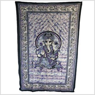 Ganesha Wandtuch blau vollansicht