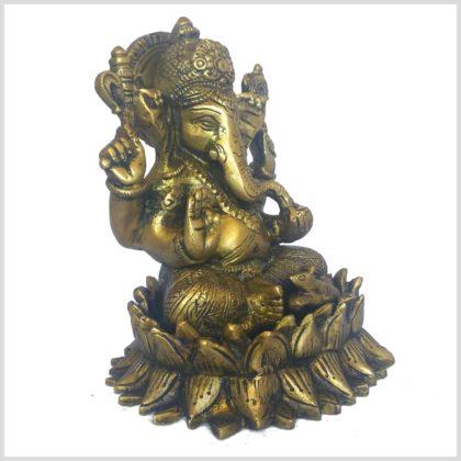 Ganesha auf Lotus 1,8kg Seitenansicht