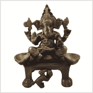 Ganesha Statue Oellampe DC Vorderansicht