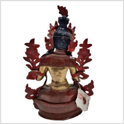 Weiße Tara Original aus Nepal 25cm Rücken