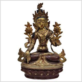 Weiße Tara Original aus Nepal 25cm Vollansicht